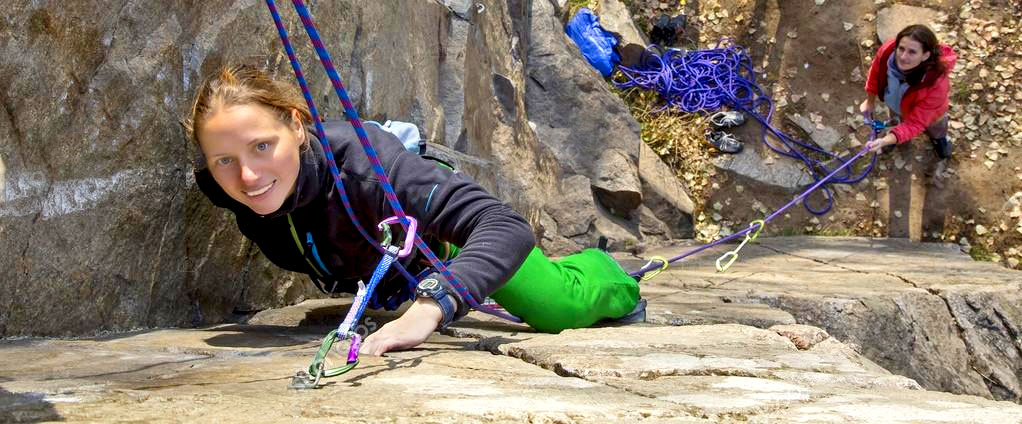 Belaying Female Climbers